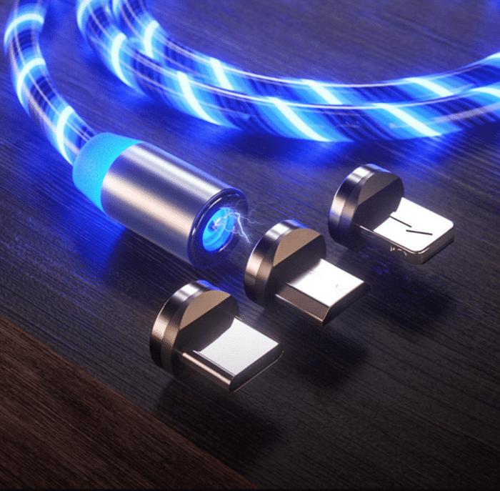2021 02 23 12 23 03 Kyerivs Magnetisches Ladekabel mit Sichtbar fliessendem  Amazon.de  Elektronik