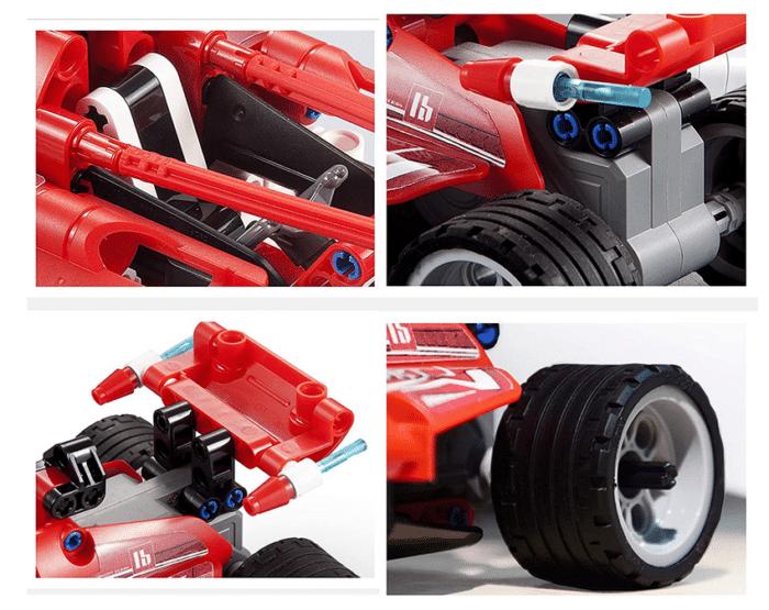2021 02 25 07 19 01 3in1 Supersport Rennwagen Set 295 Teile kompatibel mit Lego Technic z.B. 42026