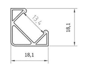 2021 03 03 10 45 29 Set  LED Profil 100cm Profil LED 45 fuer LED Streifen Aluminium led Profil  A