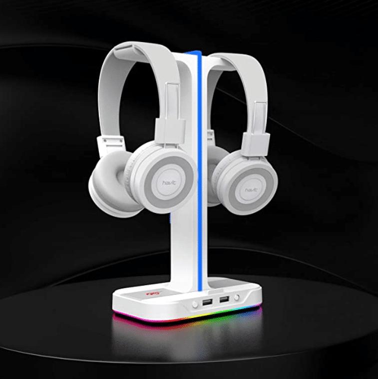 2021 03 15 02 56 01 havit Headset Staender RGB Halterung mit 2  Amazon.de  Elektronik