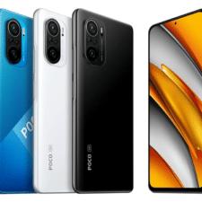 Xiaomi Poco F3 Rückseite, Vorderseite und Farbvarianten