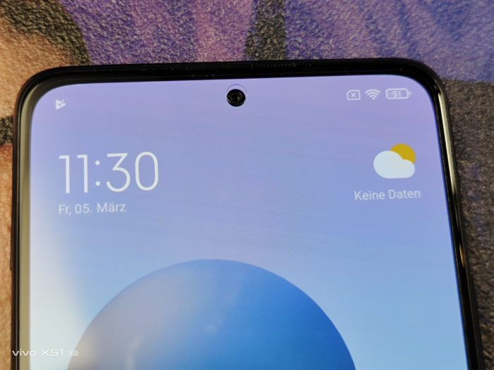 Xiaomi Redmi Note 10 Pro Vorderseite und Loch Notch/ Punch Hole