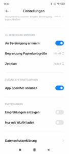 Xiaomi Redmi Note 10 Pro Screenshoots der Werbung im System