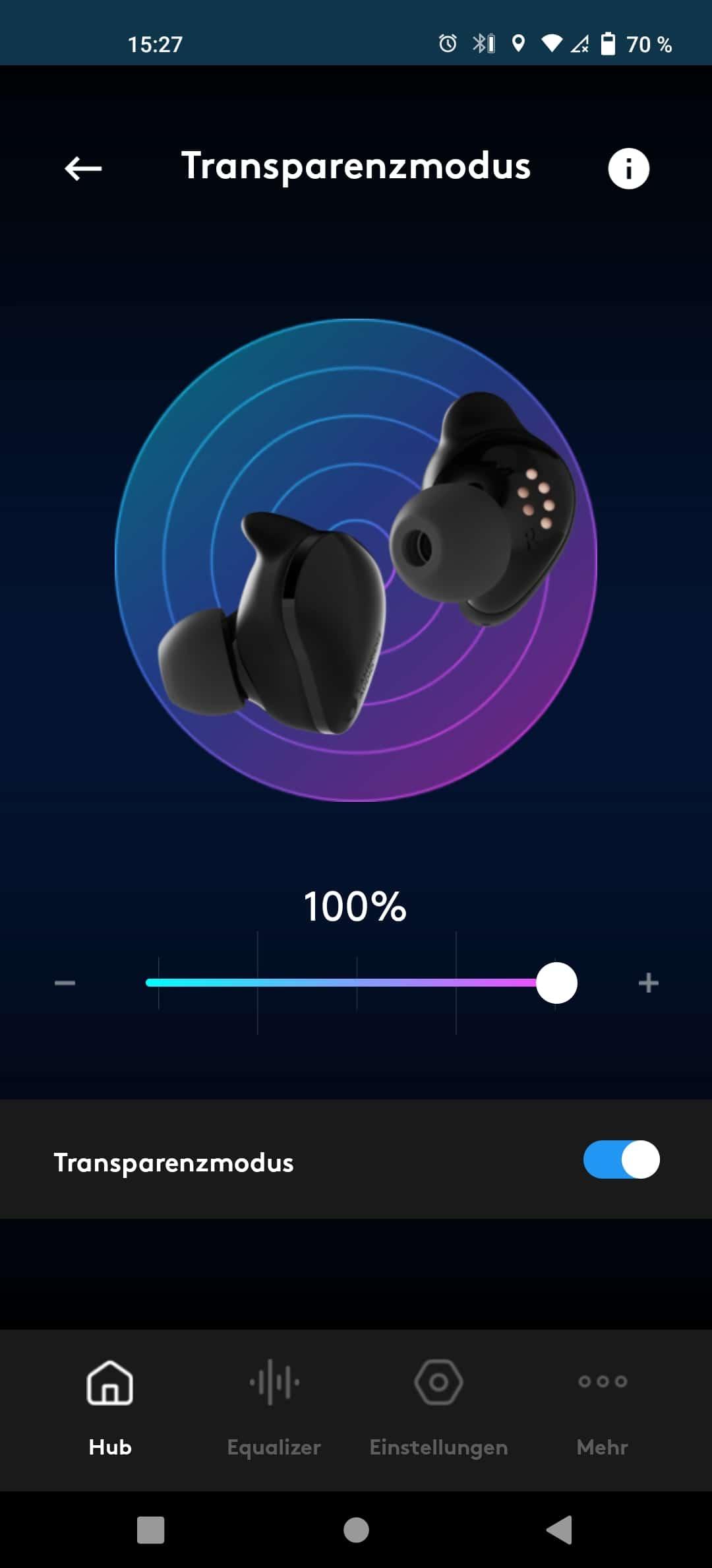 Cambridge Audio Melomania Touch Transperentmodus
