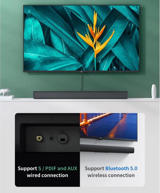 Xiaomi Redmi TV Soundbar Rückanasicht mit Anschlüssen