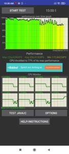 Poco F3 Screenshoots CPU Stress Test