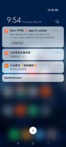 Xiaomi Mi 11 Ultra Screenshots System iOS Parallelitäten