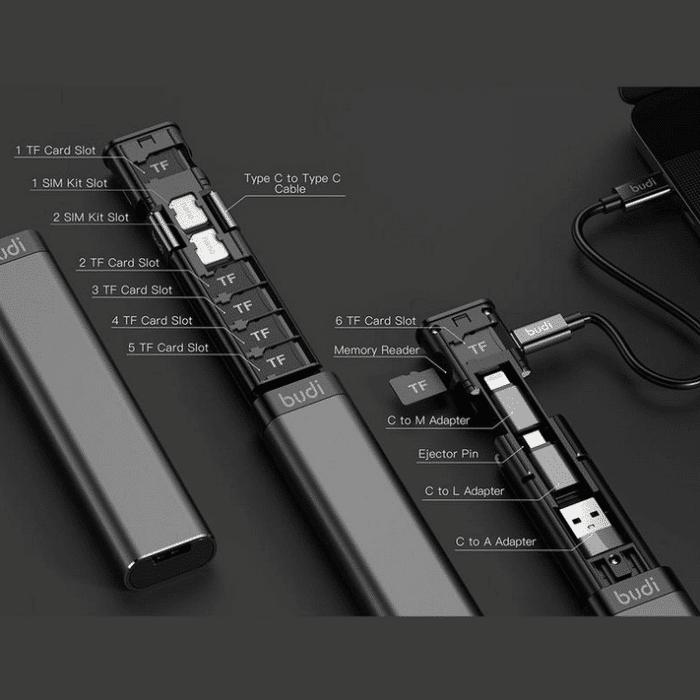 2021 05 12 12 20 58 BUDI Multi funktion Smart Adapter Karte Lagerung Datenkabel USB Box Universal 15
