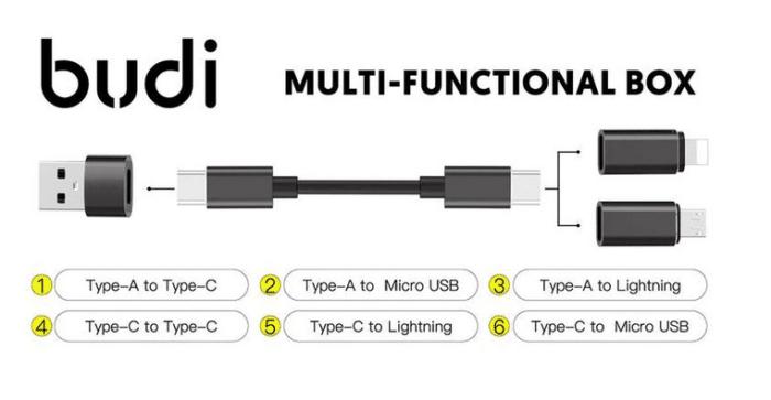 2021 05 12 12 21 11 BUDI Multi funktion Smart Adapter Karte Lagerung Datenkabel USB Box Universal 15