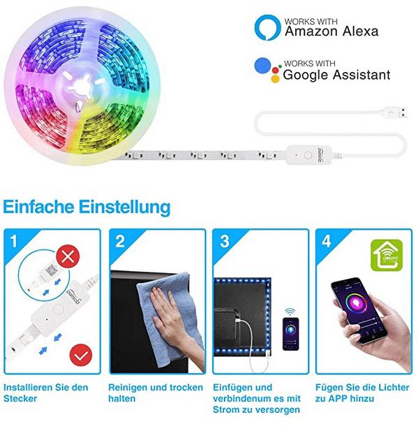 2021 05 12 15 49 37 Gosund Led Strip AlexaSmart LED Streifen App Steuerbar 5050 led Musik Lichtband