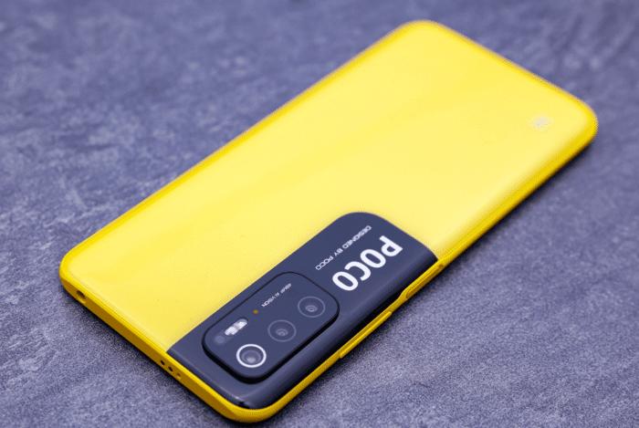 Poco M3 Pro 5G gelbe Rückseite