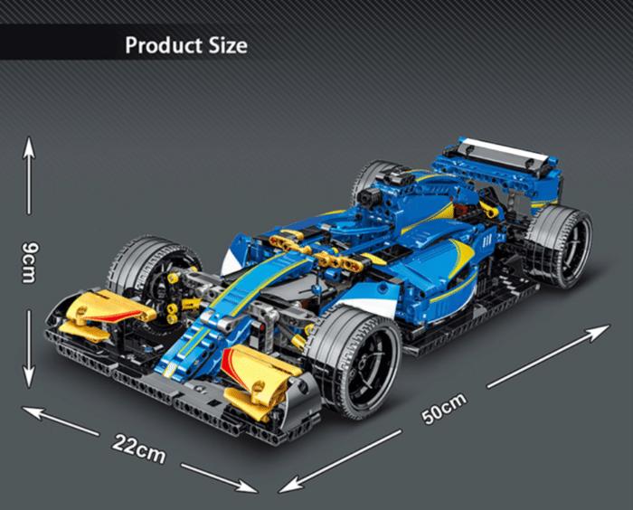 Formel 1 Wagen aus Klemmbausteinen Produktgröße