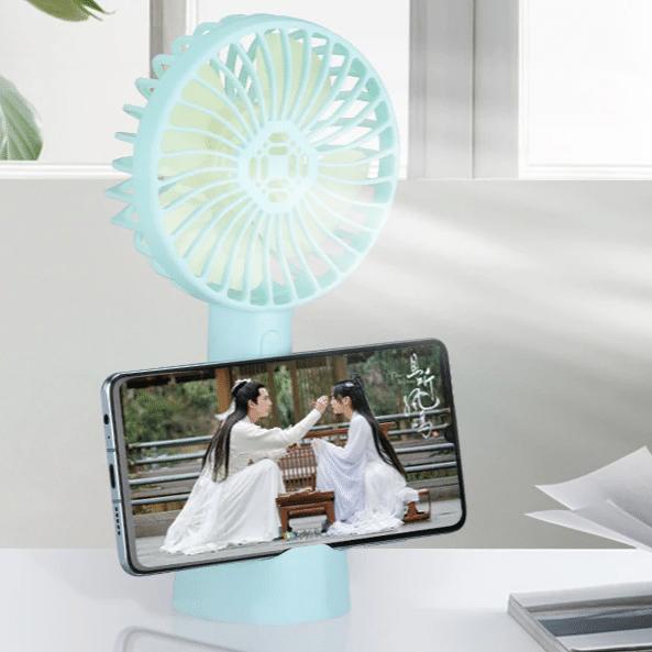 2021 05 31 15 46 46 Tragbare Handheld Fan Akku Mit Handy Halter Fuer Home Outdoor Sommer Luftkuehlung
