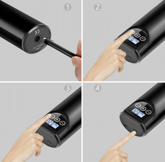 2021 06 04 14 32 39 12V 150PSI Wiederaufladbare Luftpumpe Reifen Inflator Cordless Tragbare Kompress