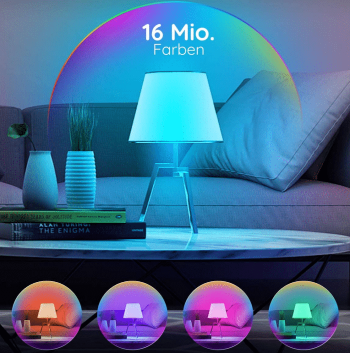 2021 06 07 11 11 24 Govee Smart LED Lampe A19 E27 7W Dimmbare RGBWW Gluehbirne mit App Steuerung via