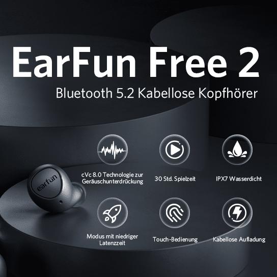 2021 06 08 11 45 44 EarFun Free 2 Bluetooth Kopfhoerer Kabellos In Ear  Amazon.de  Elektronik 1