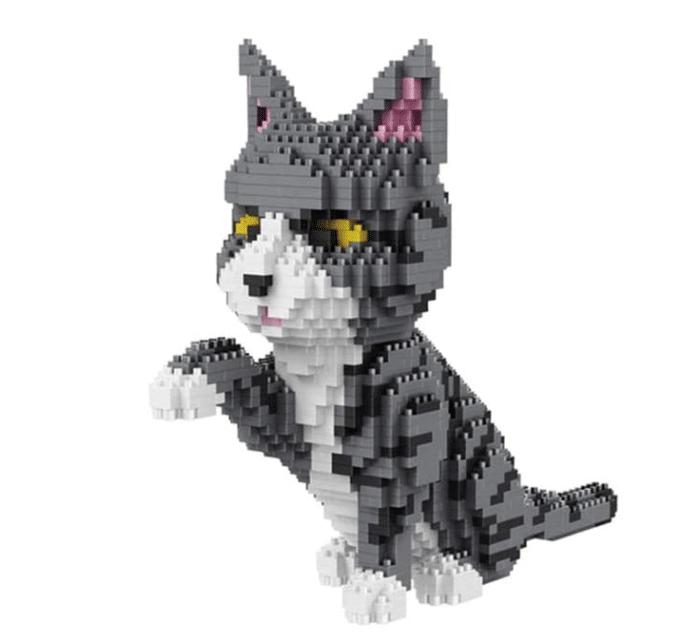 Klemmbaustein-Haustiere Katze