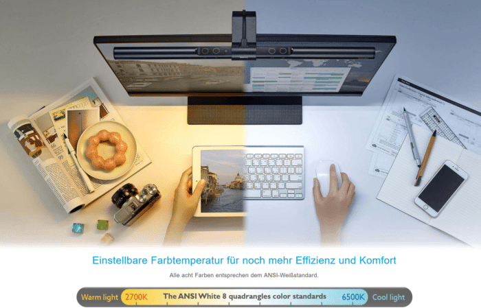 BenQ - Screenbar/Monitorlampe Farbtemperaturen