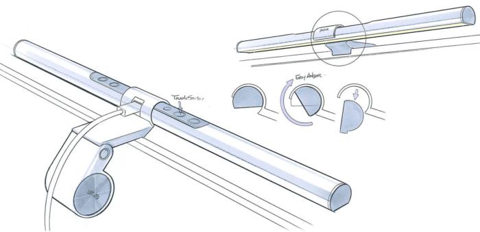 BenQ - Screenbar/Monitorlampe Halterung und Stromversorgung
