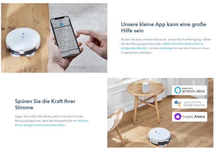 yeedi mop station App Anbindung & Spracherkennung