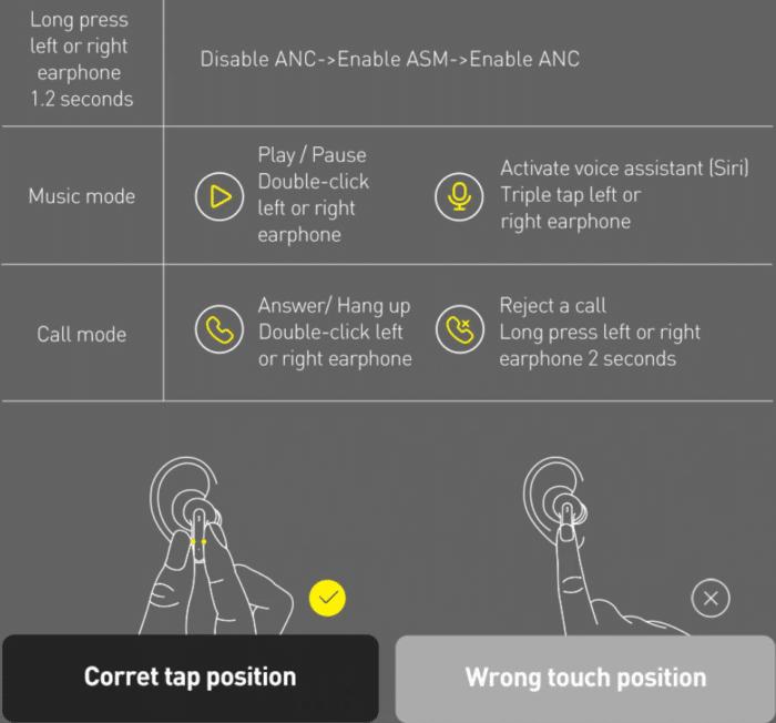 Baseus SIMU S1 pro Touch Bedeinung