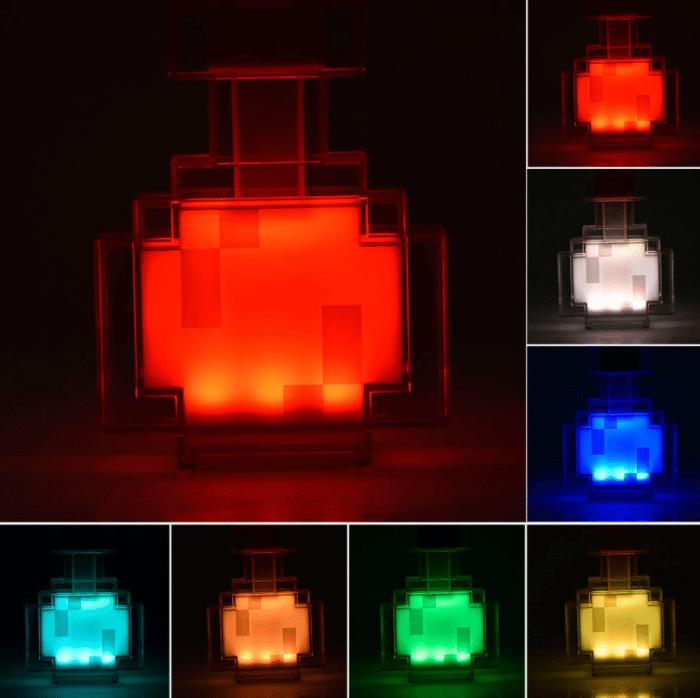 Minecraft LED-Fackel / -Trank Verschiedene Farben Trank