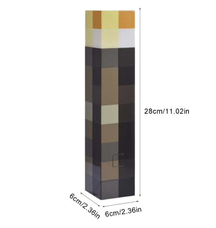 Minecraft LED-Fackel / -Trank Fackel Maße