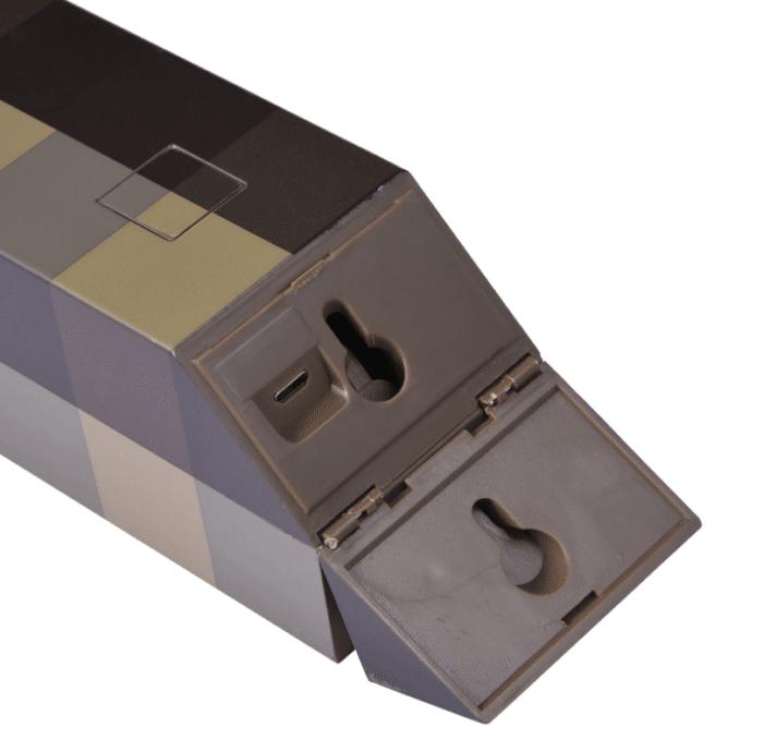 Minecraft LED-Fackel / -Trank Wandhalterung und Ladeanschluss