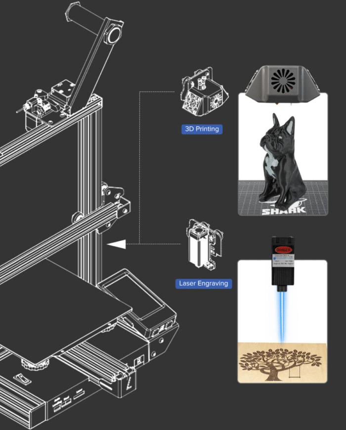 LOTMAXX Shark V2 3D Laserkopf & Druckkopf