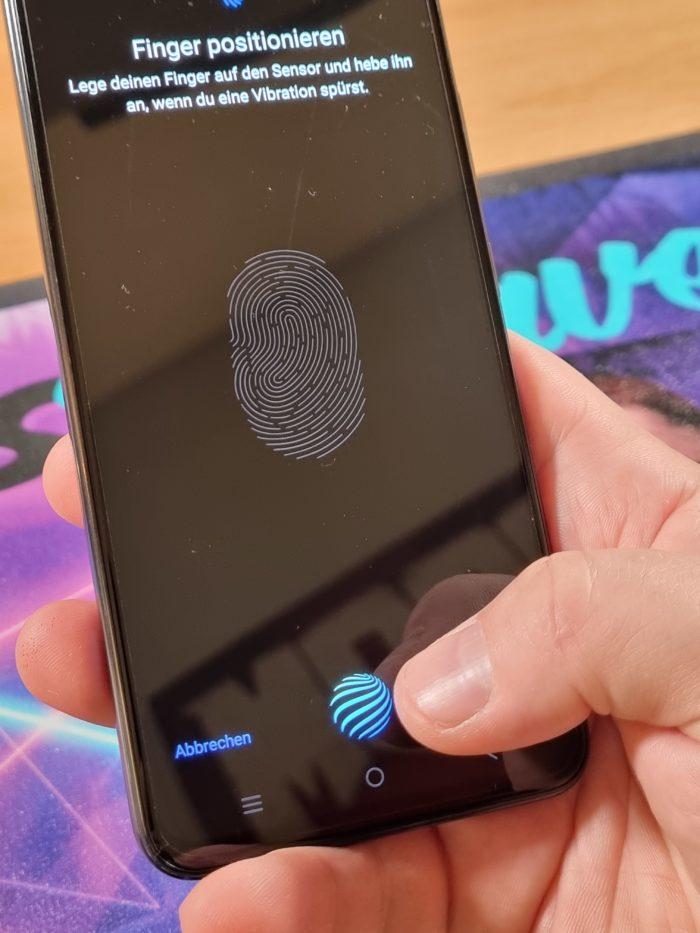 Vivo V21 Test  Fingerabdrucksensor InCell Position