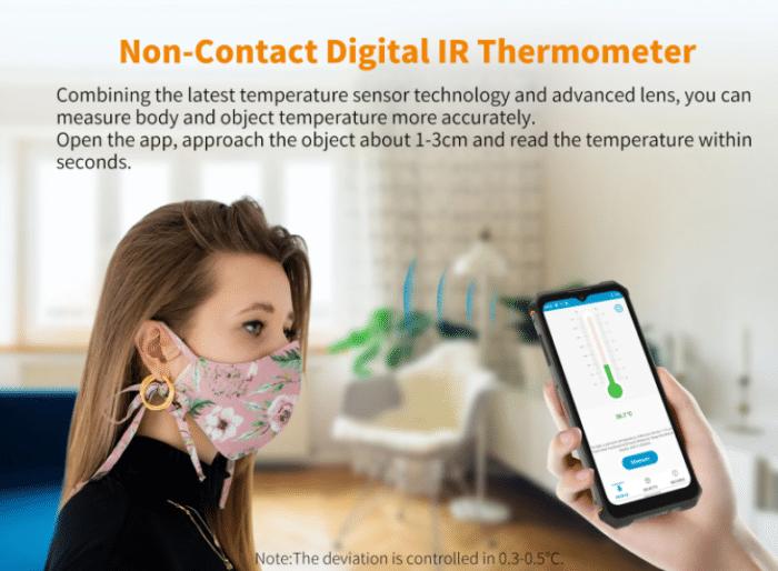 OUKITEL WP13 5G infrarot Temperatursensor