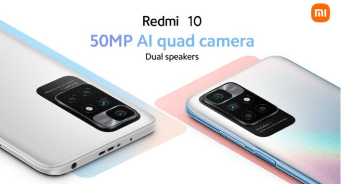 Redmi 10 Kamera Setup auf der Rückseite