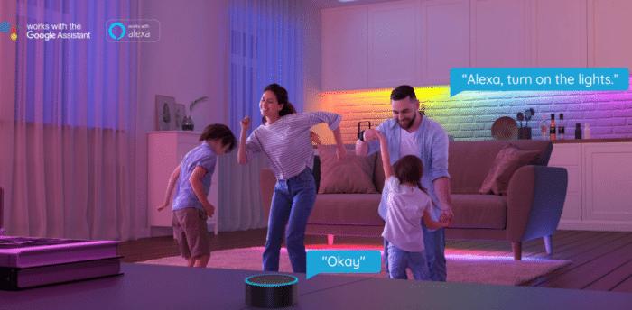 Govee RGBIC LED Streifen Sprachsteuerung Alexa/Google Assistent