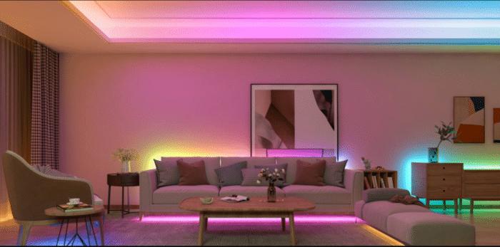 Govee RGBIC LED Streifen LED Segmente mit unterschiedlichen Farben