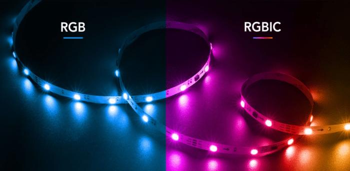 Govee RGBIC LED Streifen Unterscheid zwischen RGB und RGBIC LED Streifen