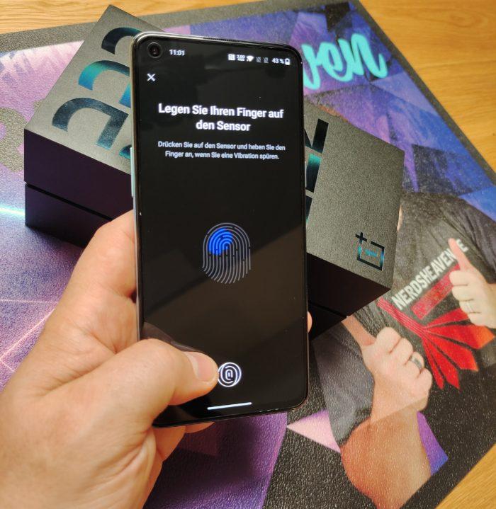 OnePlus Nord 2 Test Fingerabdrucksensor unter Glas