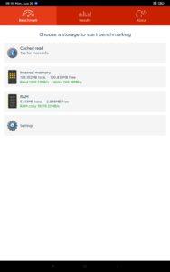 Xiaomi mi Pad 5 Pro Screenshoot Performance Lese- & Schreibraten