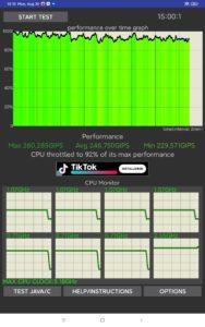 Xiaomi Mi Pad 5 Pro Screenshots Leistung CPU Stress Test
