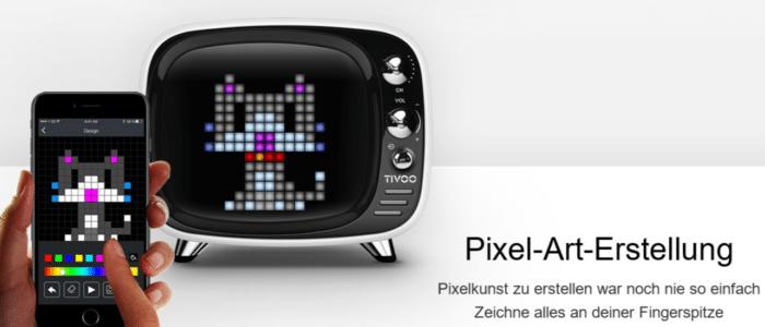 Divoom Tivoo Classic Retro Bluetooth-Lautsprecher Pixelkunst