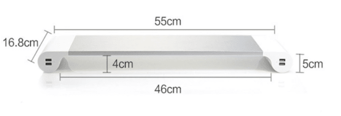 Aluminum Desktop Monitor Stand Maße