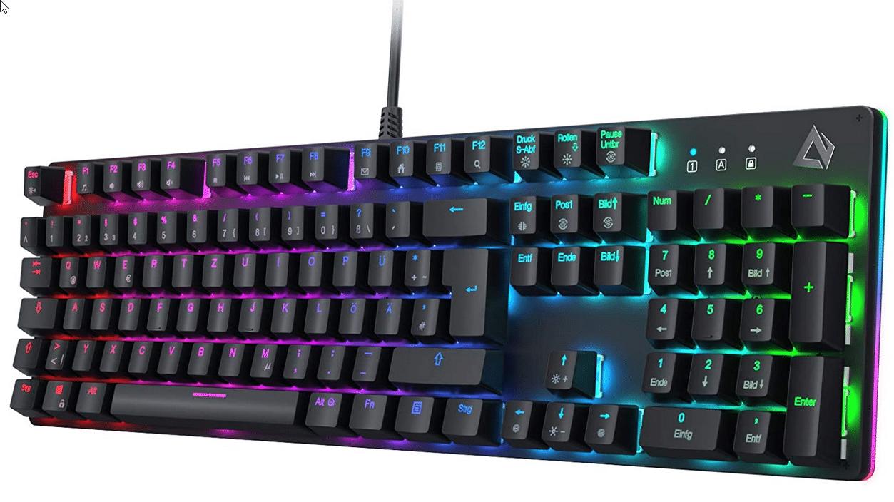 Aukey RGB Beleuchtete Tastatur Vorderansicht
