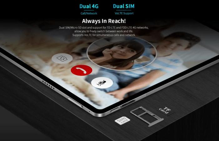 Teclast T40 Plus Videotelefonie und LTE Empfang