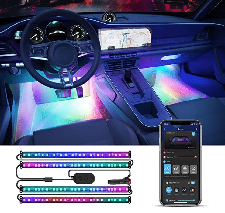 Govee RGBIC Auto LED StreifenGovee RGBIC Auto LED Streifen App steuerung und Licht im Fahrzeug