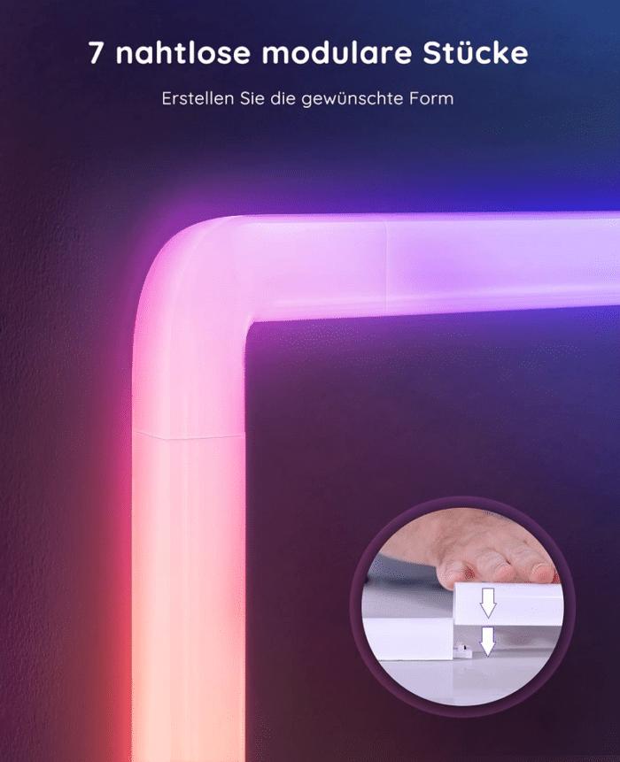 Govee Glide Wall Lights mit nahtloser Steckverbindung