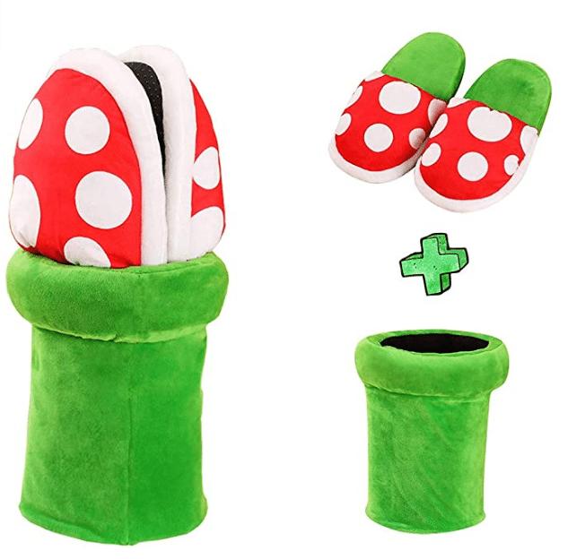 Super Mario Hausschuhe Tunnel + Latschen