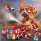 VATOS City Roboter Bausteine ab 23,99€ – 35-in-1 Feuerwehrmodelle (836 Teile, 35 versch. Modelle, Feuerwehr)