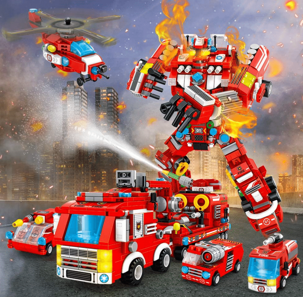 VATOS City Roboter Bausteine Produktbild