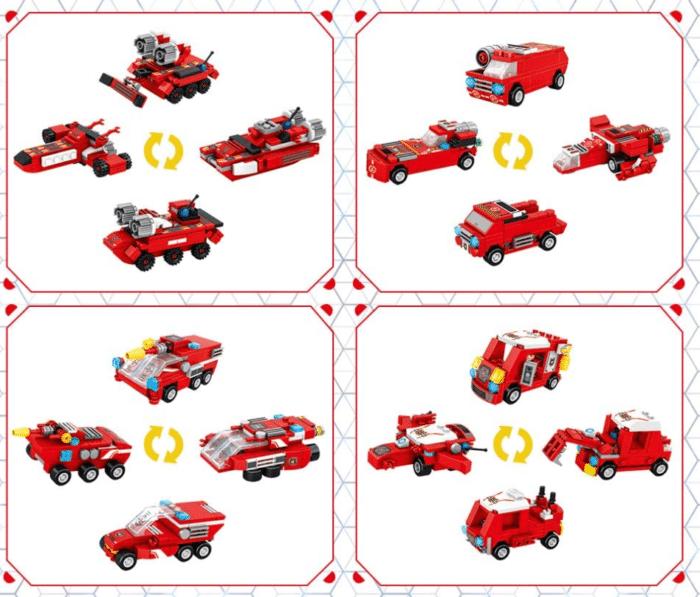 VATOS City Roboter Bausteine 16 Modelle