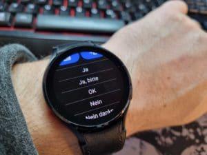 Samsung Galaxy Watch 4 Nachrichten beantworten