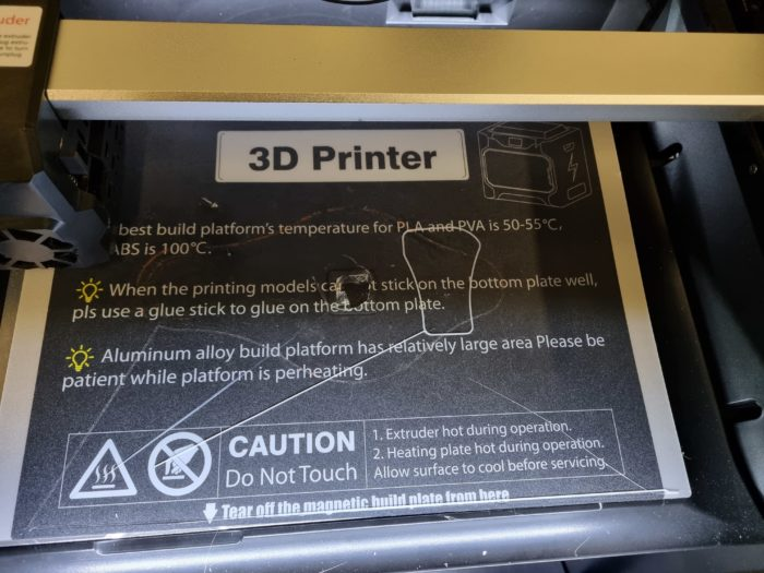 QIDI I-Fast 3D Drucker magnetische Druckplatte